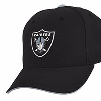 NFL Youth Sized Basic Structured Adjustable Snapback Cap (Oakland Raiders, Youth One Size)