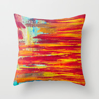 Summer Light Throw Pillow by Sophia Buddenhagen