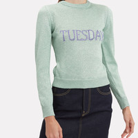 Tuesday Mint Green Lurex Sweater
