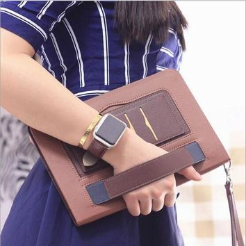 Luxury Leather case Cover For Apple iPad 9.7 2017 with stand function Auto sleep/up