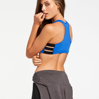 Wallflower Cage Side Sports Bra Royal  In Sizes