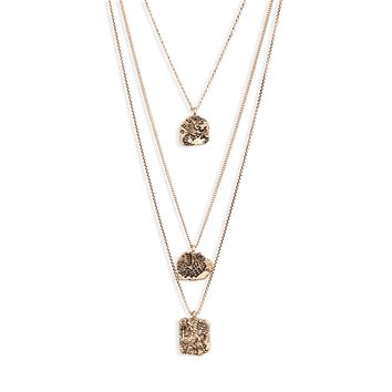 Pressed Coin Charm Necklace