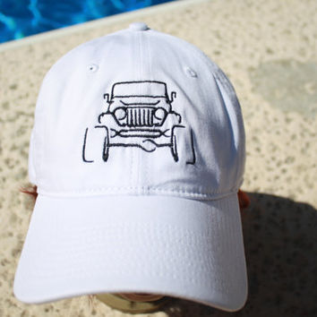 Jeep Wrangler Embroidered Baseball Cap Hat