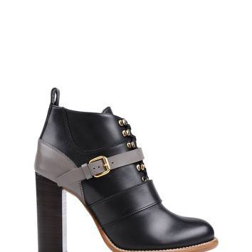 Chloé Lace-Front Ankle Boots - Leather Ankle Boots - ShopBAZAAR