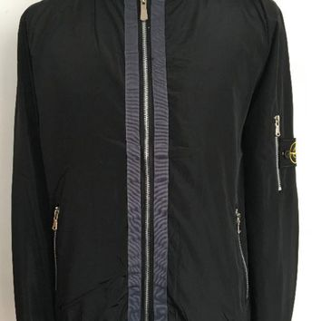Discount stone island men's fashion clothes black casual trench coat DCCK
