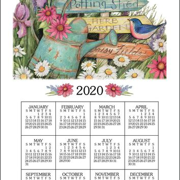 Calendar Towel 2020 - Garden Signs