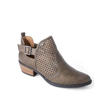 Olive Sofie Perforated Booties