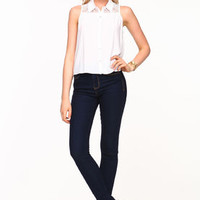 Sleeveless Lace Panel Blouse - LoveCulture