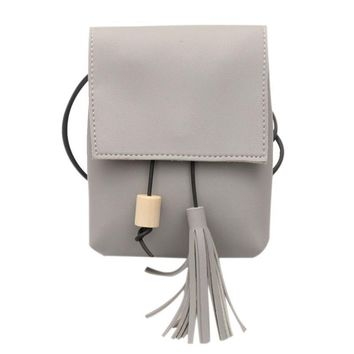Exquisite Luxury Women Handbag Tassel Wooden Beads Drawstring Shoulder Bag Small Tote Purse Simple Design Gift  710 p50