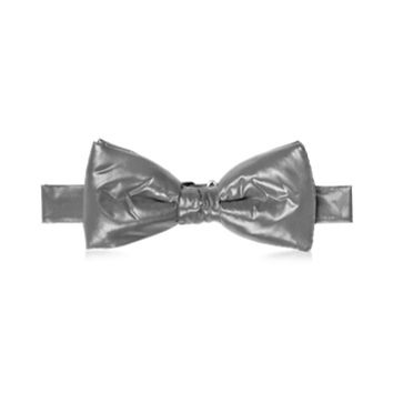 Forzieri Designer Bowties and Cummerbunds Dark Gray Nylon Puffer Bow Tie