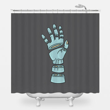 Severed Hand Shower Curtain