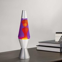 "Purple and Yellow 14 1/2"" High Official Lava Accent Lamp - #67507 