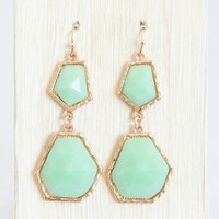 Pale Mint Geometric Earrings