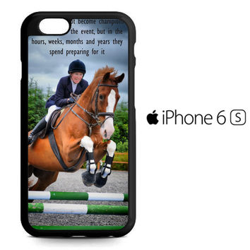 horse jumping photography Y2410 iPhone 6S Case