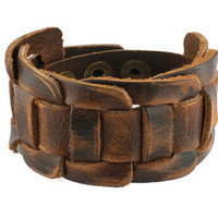 Soft Brown Leather Women Leather Jewelry Bangle Cuff Bracelet Men Leather Bracelet  S005