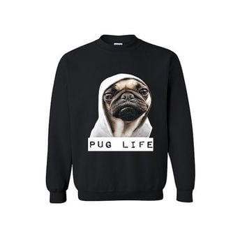Pug Life Funny T-shirt Gift for her Boyfriend Girlfriend Thug Life Dogs Cats Pet Design Clothes