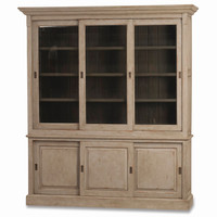 "Bramble Hudson 88"" Kitchen Hutch Bookcase W/Sliding Doors 25975"