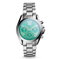 Bradshaw Flash-Lens Silver-Tone Watch | Michael Kors