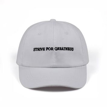 """""""strive for greatness"""" dad hat"""