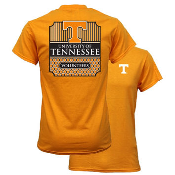 Southern Couture University of Tennessee Volunteers Vols Classic Preppy Girlie Bright T Shirt