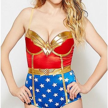 Wonder Woman Bodysuit - Spencer's