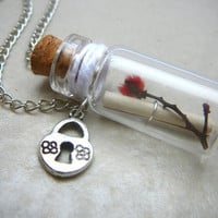 Message in a Bottle Bottle Necklace Personalized by CaptureMyArt