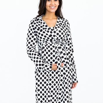 Celine Maternity Delivery & Nursing Robe