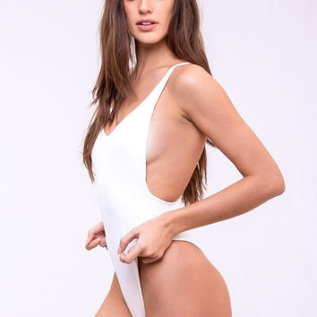 Dbrie Swim Daxi One Piece - White