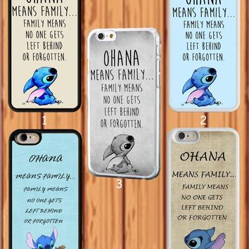 "Lilo And Stitch Quote""Ohana Means Family"" for iPhone &Samsung Galaxy Cover Case"