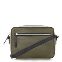 Leather Boxy Cross Body Bag - Topshop