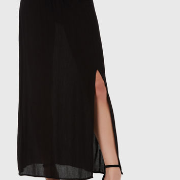 Slit Second Maxi Skirt