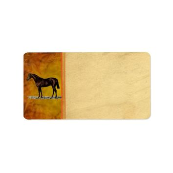 Brown Horse Address Label