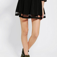 Urban Outfitters - Pins And Needles Mesh-Hem Circle Skirt