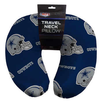 Dallas Cowboys NFL Beadded Spandex Neck Pillow (12in x 13in x 5in)