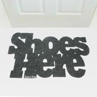 Original door mat: Shoes here. Custom doormat. Welcome sign.