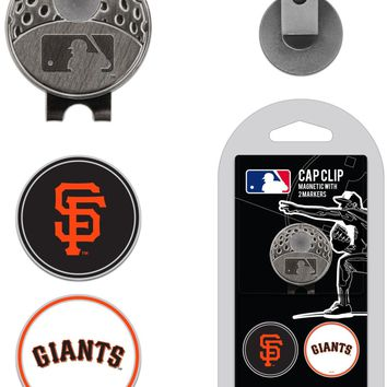 MLB San Francisco Giants Hat Clip & 2 Magnetic Golf Ball Markers