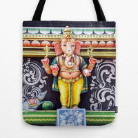 Ganesha God Tote Bag by Bluedarkat Lem