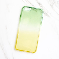 Green & Yellow Ombre iPhone Case