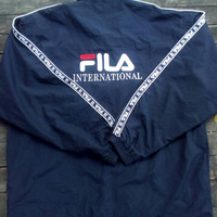 Fila  International windbreaker big logo sport wear