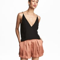 H&M Satin Shorts $34.99