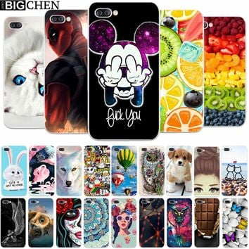 """BigChen 5.2"""" Asus Zenfone 4 Max ZC520KL Case Cover Cartoon Soft Silicone TPU Printed Phone Back Protective Asus ZC520KL Case"""