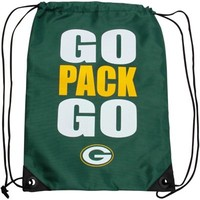 Green Bay Packers Slogan Drawstring Backpack - Green
