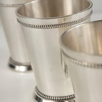 """4"""" Mint Julep Cups Silver Plated  $8 each   / 4 for $7.50 each"""