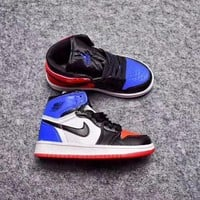 Nike Air Jordan Retro 1 High Top Three Kid Basketball Shoes for Youth Boys and Child