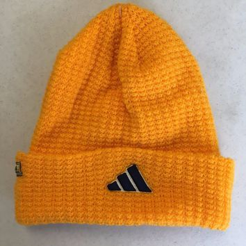 BRAND NEW ADIDAS YELLOWISH ORANGE INTER KNIT HAT SHIPPING