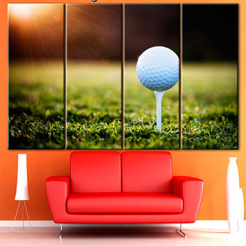 Golf wall art, Multi panel canvas, Gallery wrapped canvas prints, Typography canvas, Split canvas, Golf canvas, Elegant sport, Canvas prints