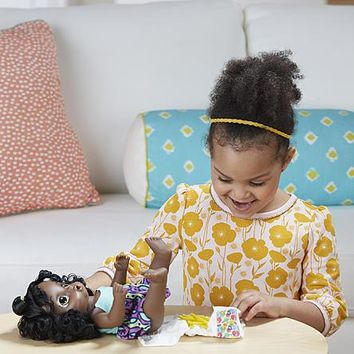 African American Baby Alive Interactive Talking Speaking English & Spanish Baby Doll Super Snacks