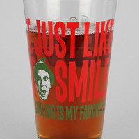 Elf Smiling Is My Favorite Pint Glass - Urban Outfitters