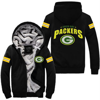 Green Bay Packers Football Jacket Thicken Hoodie