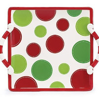 Burton+Burton Make It Merry Polka Dot Platter